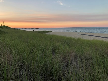Oak Bluffs Martha's Vineyard vacation rental - Evening at Inkwell Beach (ocean is across the street!)