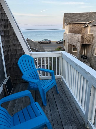Oak Bluffs Martha's Vineyard vacation rental - Upstairs deck has views of ocean & Farm Pond
