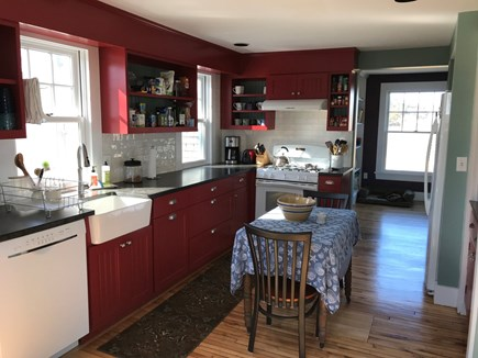 Oak Bluffs, On Farm Pond Martha's Vineyard vacation rental - Fully equipped kitchen, overlooking back porch