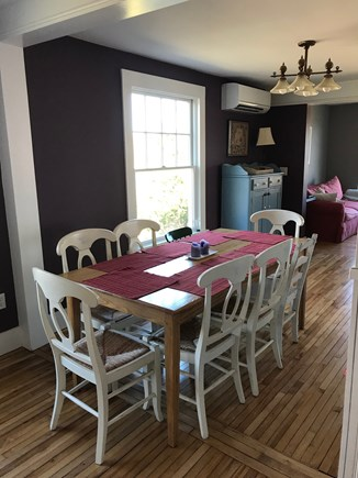 Oak Bluffs, On Farm Pond Martha's Vineyard vacation rental - Dining room with den beyond.
