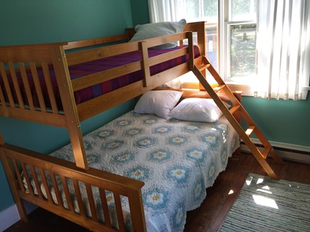 Oak Bluffs, On Farm Pond Martha's Vineyard vacation rental - Double/twin bunk room, overlooking back and side yards