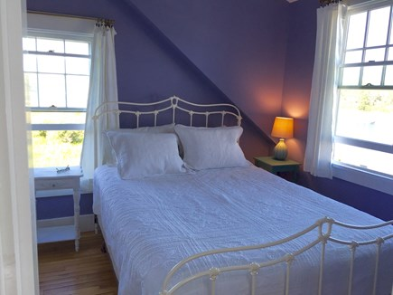 Oak Bluffs, On Farm Pond Martha's Vineyard vacation rental - Queen room, overlooking upstairs front porch