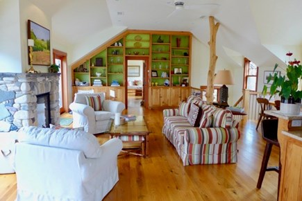 Katama - Edgartown Martha's Vineyard vacation rental - Cozy den between the living room and bedrooms offers privacy.