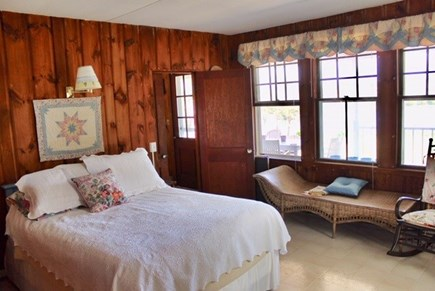 Chilmark Martha's Vineyard vacation rental - Beautiful pine paneled bedroom suite with attached bathroom.