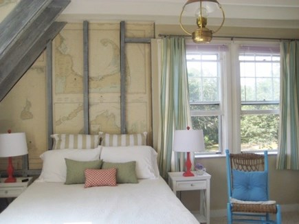 Chilmark Martha's Vineyard vacation rental - Upstairs nautical room suite/BR with pond view.