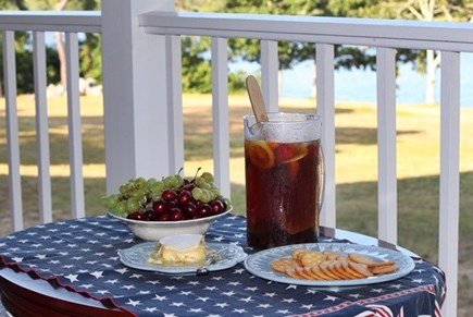 Chilmark Martha's Vineyard vacation rental - Leisurely afternoon snacks relaxing with peaceful view.