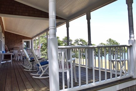 Chilmark Martha's Vineyard vacation rental - Most living—eating and visiting is done on this large veranda.