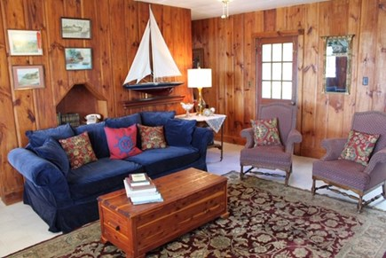 Chilmark Martha's Vineyard vacation rental - Comfortable and cozy living room for reading your favorite book.