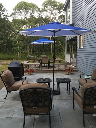 Oak Bluffs Martha's Vineyard vacation rental - Backyard features stone patio for grilling and entertaining.