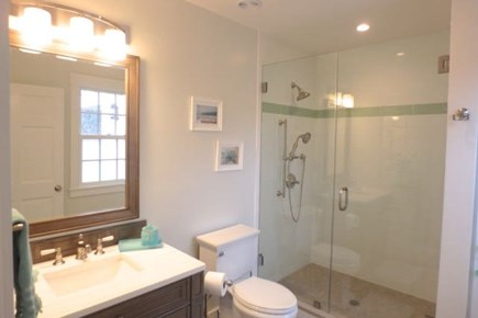 Chilmark Martha's Vineyard vacation rental - Glass shower leaves you feeling refreshed.