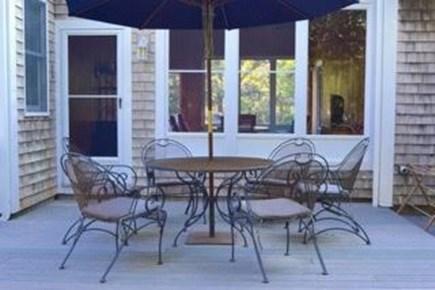 Katama - Edgartown, Edgartown Martha's Vineyard vacation rental - Deck off Screened porch