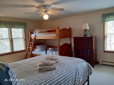 Katama - Edgartown, Edgartown Martha's Vineyard vacation rental - Second level king bedroom with bunk beds