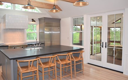 Oak Bluffs Martha's Vineyard vacation rental - Kitchen to Screened Porch