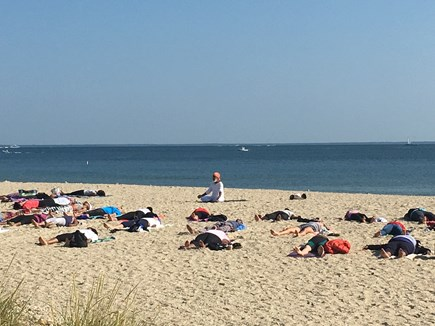 Oak Bluffs, Waterview Farms Martha's Vineyard vacation rental - Yoga Exercise in Mornings at Inkwell in OB