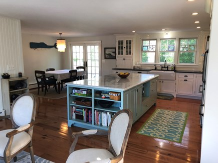 Oak Bluffs Martha's Vineyard vacation rental - Open Concept Kitchen leading to dining area and outsidepatio area