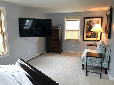Oak Bluffs Martha's Vineyard vacation rental - Master Bedroom sitting area and view of TV from bed