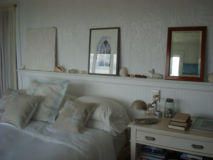 Chilmark Martha's Vineyard vacation rental - Master bedroom with a king-sized bed.