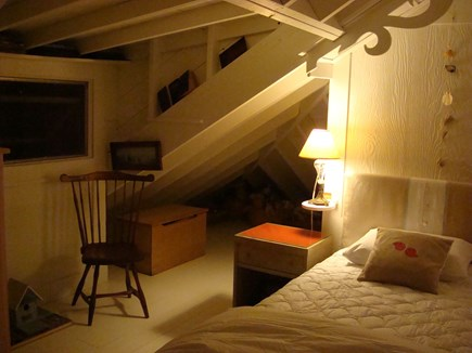 Chilmark Martha's Vineyard vacation rental - Upstairs bedroom with two twins.