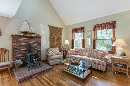 Oak Bluffs Martha's Vineyard vacation rental - Living room with cozy fireplace