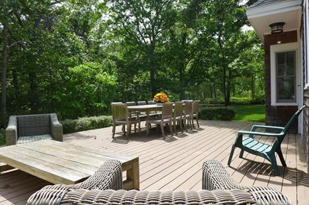 Oak Bluffs Martha's Vineyard vacation rental - Great deck for relaxation & entertaining