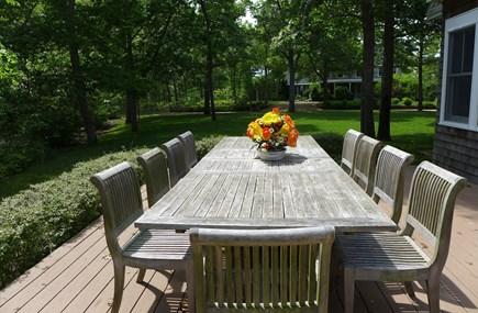 Oak Bluffs Martha's Vineyard vacation rental - Dining with famiy & friends
