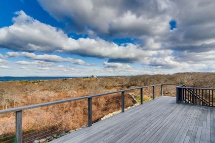 Aquinnah Martha's Vineyard vacation rental - Deck view right