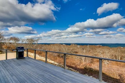 Aquinnah Martha's Vineyard vacation rental - Deck view left