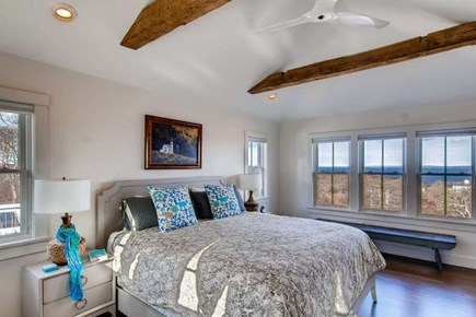 Aquinnah Martha's Vineyard vacation rental - Master bedroom with water views