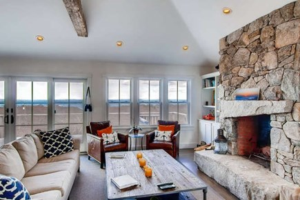 Aquinnah Martha's Vineyard vacation rental - Great room with stunning water views