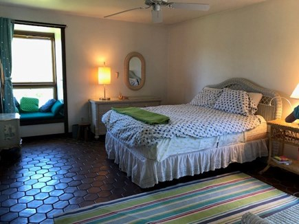 Chilmark Martha's Vineyard vacation rental - Bedroom 1 with window seat
