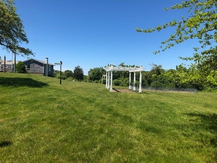 Chilmark Martha's Vineyard vacation rental - Pergola and lawn