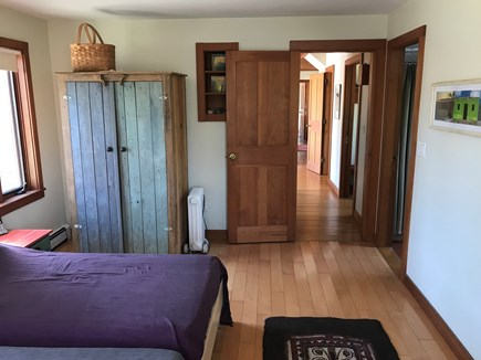 Chilmark Martha's Vineyard vacation rental - Master bedroom--two side-by-side twin beds that can be a King