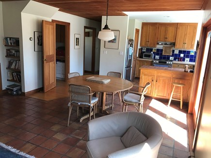 Chilmark Martha's Vineyard vacation rental - Kitchen/dining. Open door is the laundry room. Stainless appls