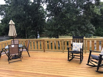 Oak Bluffs Martha's Vineyard vacation rental - Outdoor deck, gas grill at bottom of stairs