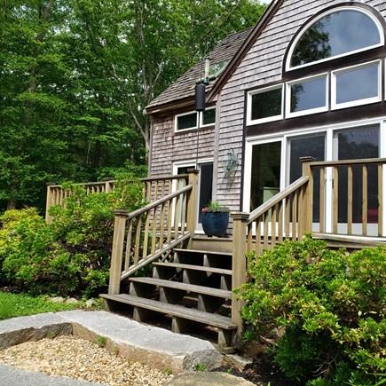 West Tisbury Martha's Vineyard vacation rental - On steps to entrance
