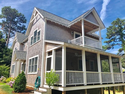 Oak Bluffs Martha's Vineyard vacation rental - Exterior of house with screened porch.
