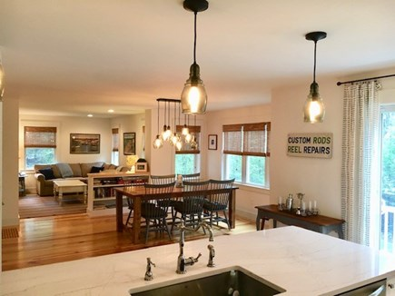 Oak Bluffs Martha's Vineyard vacation rental - View from kitchen to dining and living room. Slider goes to grill
