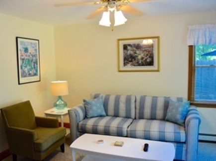 Edgartown Martha's Vineyard vacation rental - Downstairs den with sliders to the back deck