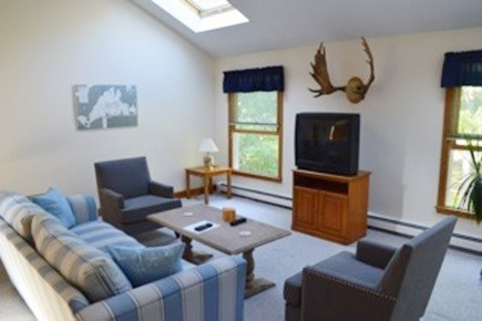 Edgartown Martha's Vineyard vacation rental - Upstairs spacious living area w/skylights & TV