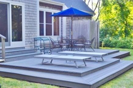 Edgartown Martha's Vineyard vacation rental - Expansive back deck