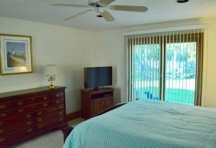 Edgartown Martha's Vineyard vacation rental - 1st Fl en suite master w/king bed & sliders to the deck