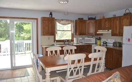 Edgartown Martha's Vineyard vacation rental - Kitchen out to the back deck