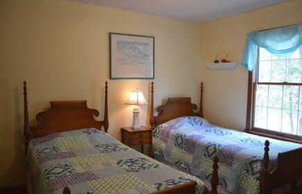 Edgartown Martha's Vineyard vacation rental - First floor bedroom-2 with Twin Beds