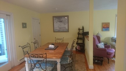 Edgartown, Walking distance to downtown  Martha's Vineyard vacation rental - Dining table with seating for 8.