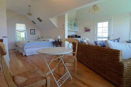 Vineyard Haven, West Chop Martha's Vineyard vacation rental - A Studio with a King Bed, sitting/ dining/ kitchenette