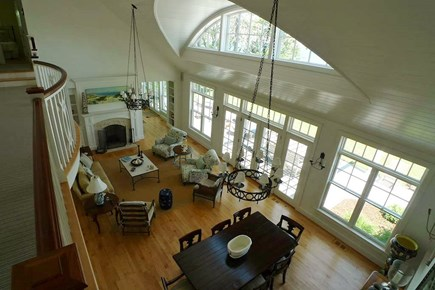 Vineyard Haven, West Chop Martha's Vineyard vacation rental - Open living & dining area with views!