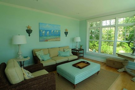 Vineyard Haven, West Chop Martha's Vineyard vacation rental - 1st Fl Sitting area off the Living area