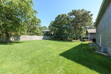 Oak Bluffs Martha's Vineyard vacation rental - Spacious backyard with volleyball court and separate grill area