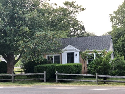 Edgartown Martha's Vineyard vacation rental - Front of house, steps to bike path, library & playground.