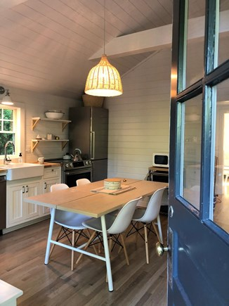 Edgartown Martha's Vineyard vacation rental - Back Door to Kitchen off parking
